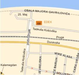 25 maj beograd mapa EDEX d.o.o. Beograd 25 maj beograd mapa